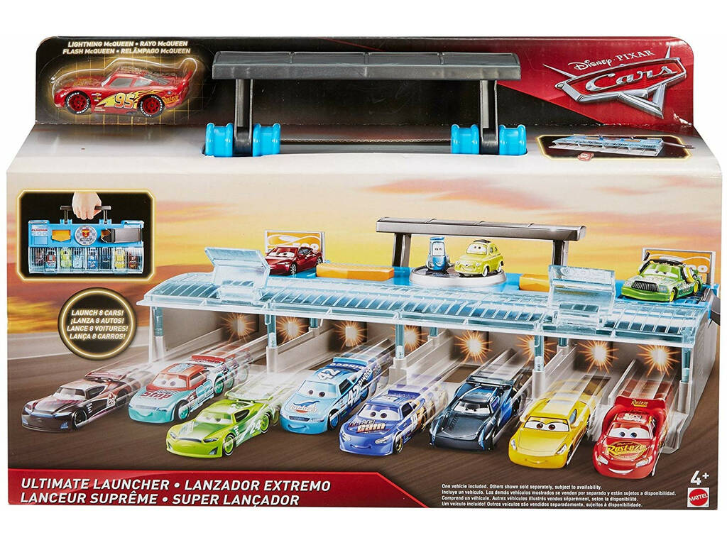 Disney Cars Mega Lanciatore MULTICORSA Cars Pista Mattel FLK12