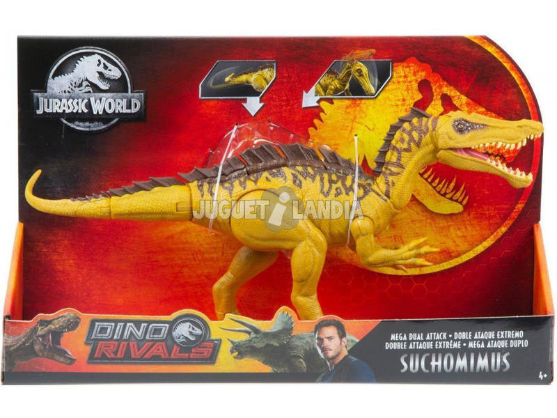 Jurassic World Dinosaurio Súper Ataque Doble Mattel GDL05