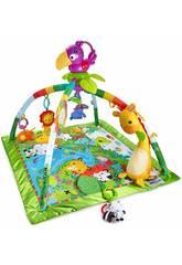Fisher Price Tapis d'Eveil Deluxe Animaux de la Jungle Mattel DFP08