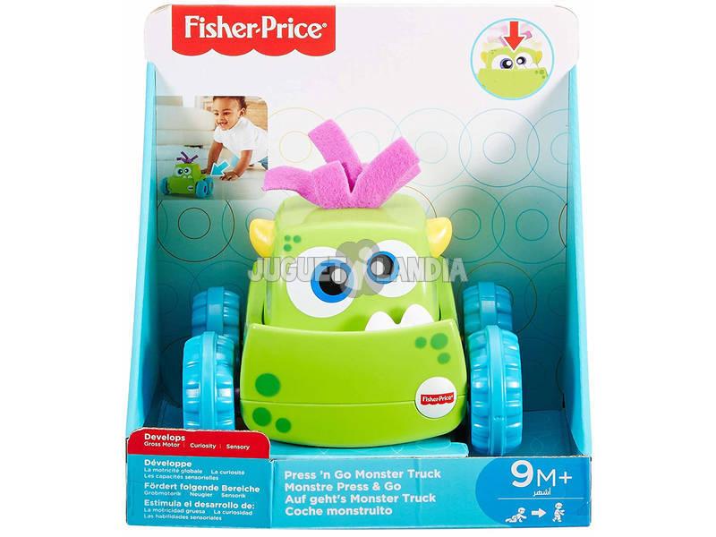 Carrinho Monstro Verde Mattel DRG15