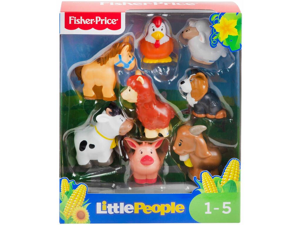 Fisher Price Little People Pack Figures Animais Quinta Mattel GFL21