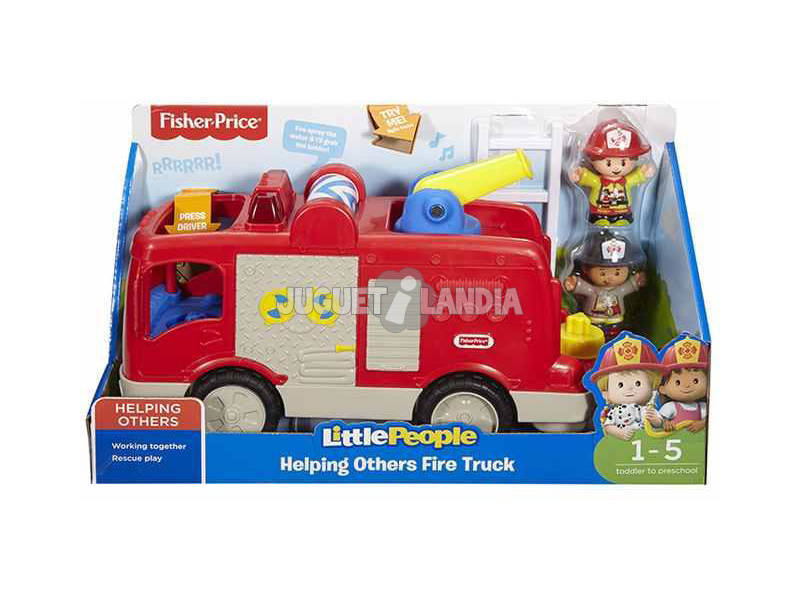 Fisher Price Little People Camion dei Pompieri Mattel FPV33
