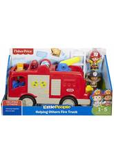 Fisher Price Little People Camion Aidez Le Pompier Mattel FPV33