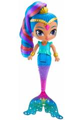 Shimmer and Shine Muñeca Shine Sirena Mattel FHN42