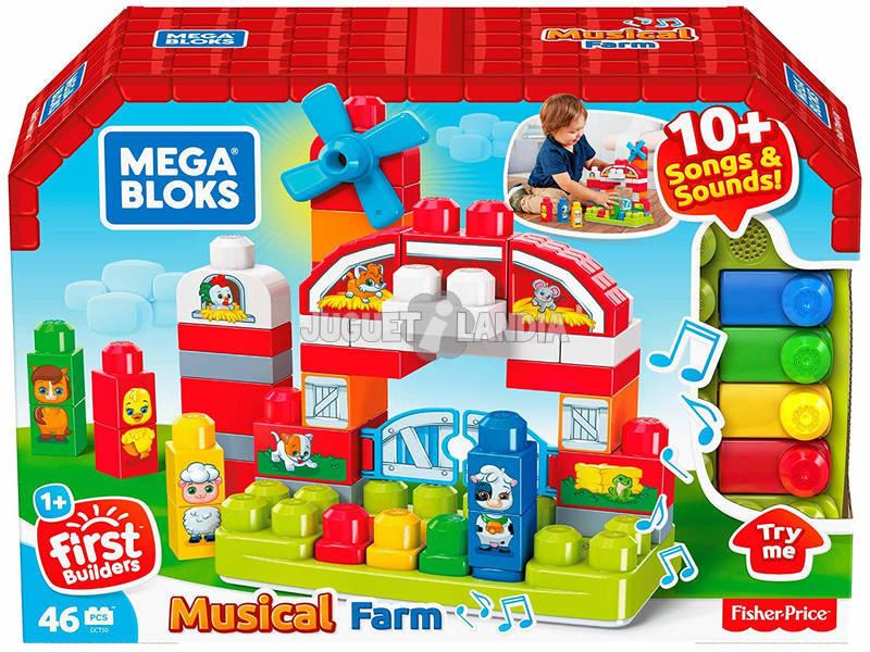 Mega Bloks Fattoria Musicale con 46 Pezzi Mattel GCT50