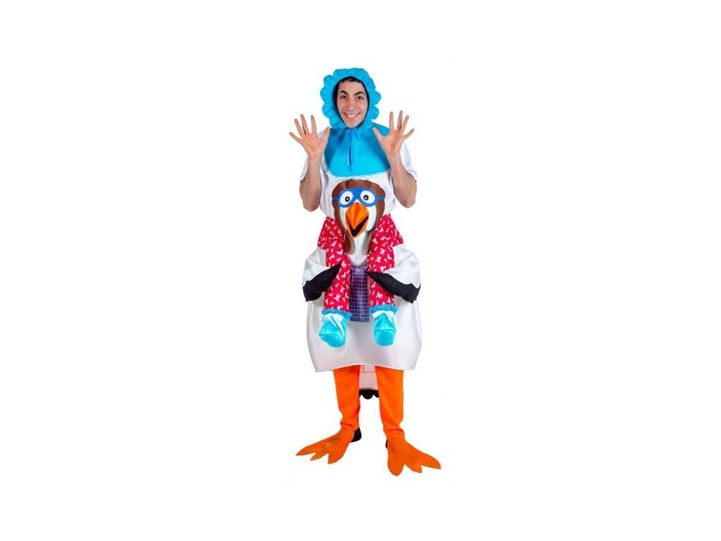 Costume Adulto Bambino e Cicogna Taglia Unica Nines D'Onil D8948