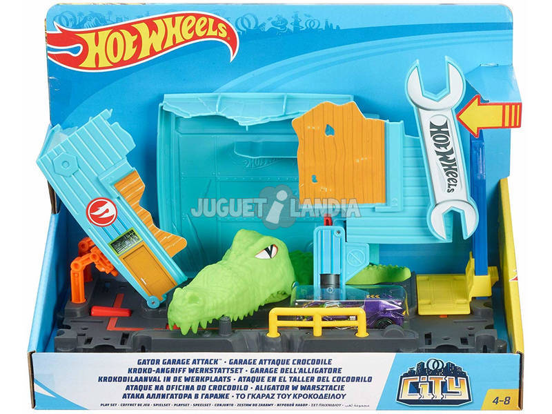 Hot Wheels City Ataque en el Taller del Cocodrilo Mattel FNB06