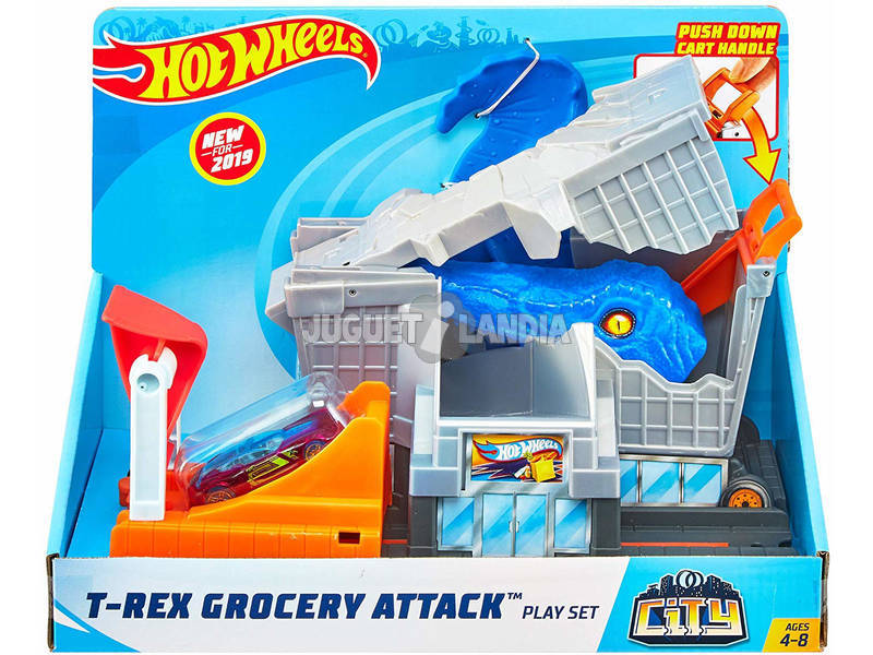 Hot Wheels City T-Rex Ataque a la Ciudad Mattel GBF92