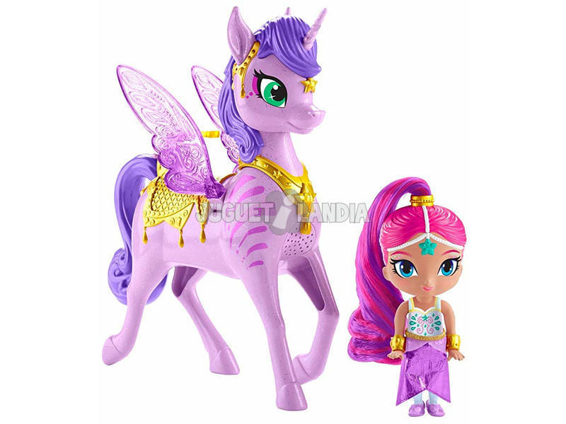 Shimmer and Shine Pack Shimmer y Zahracornio Mágico Voador Mattel GCM01