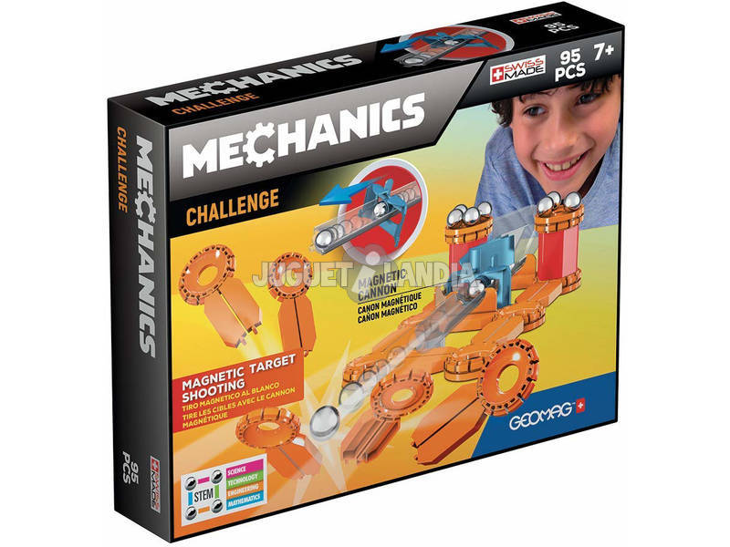 Geomag Mechanics Challenge Cañón Magnético 95 Piezas