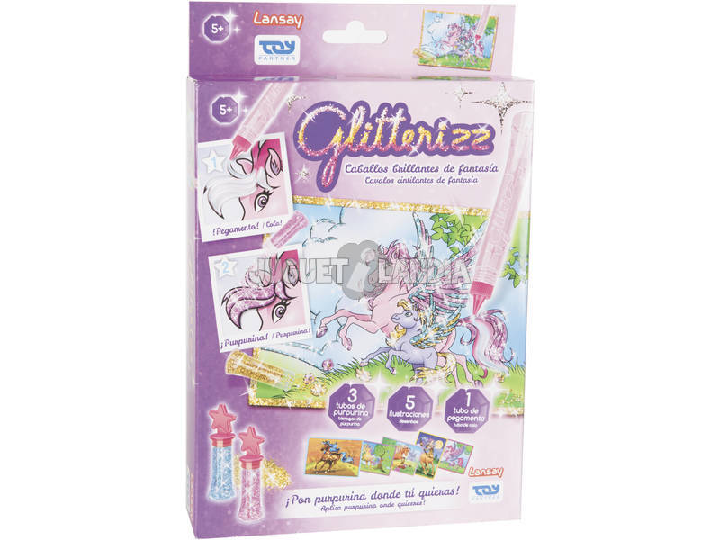 Glitterizz Set Caballitos Brillantes Toy Parther 23002
