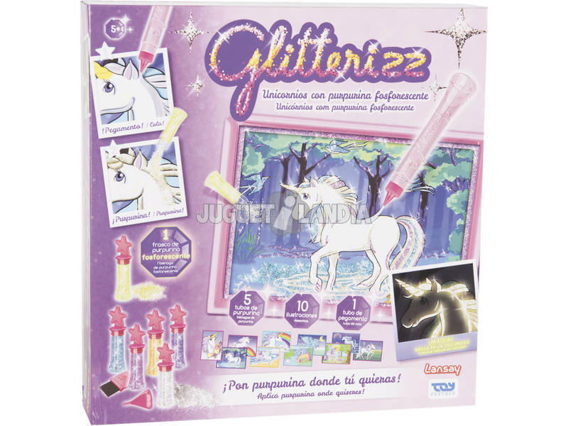 Glitterizz Set Unicórnio Fosforescente Toy Partner 23014