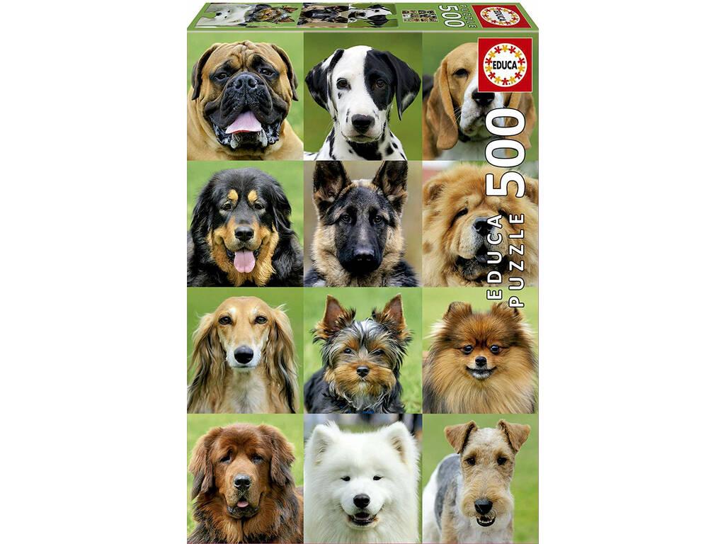 Puzzle 500 Collage De Perros Educa 17963