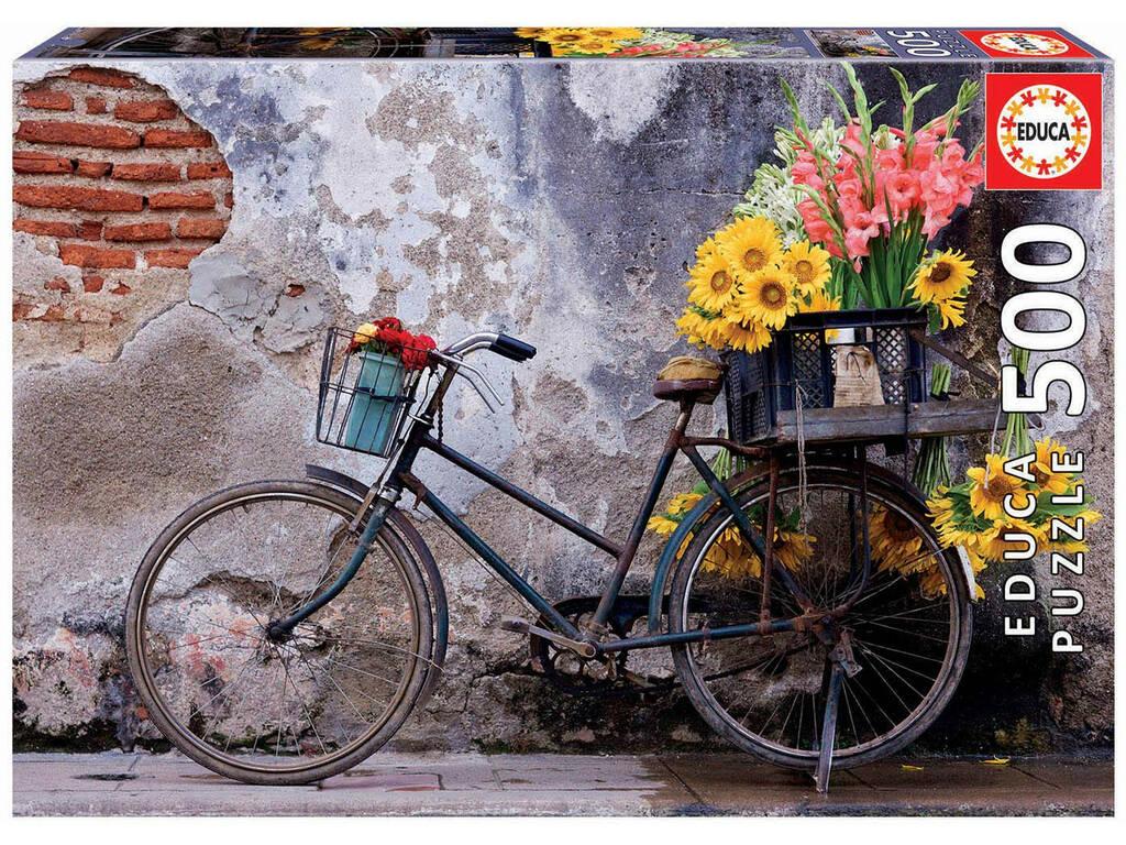 Puzzle 500 Vélo Avec Des Fleurs Educa 17988