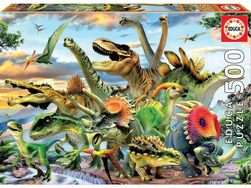 Puzzle 500 Dinosaurios Educa 17961