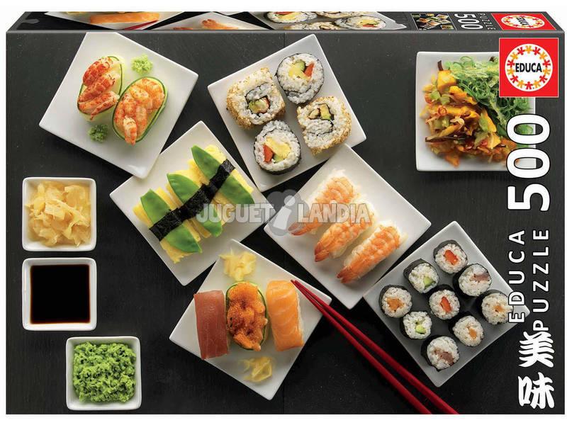 Puzzle 500 Sushi Educa 17986