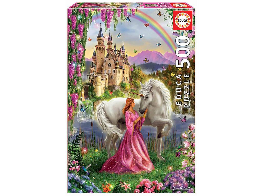 Puzzle 500 Hada y Unicornio Educa 17985