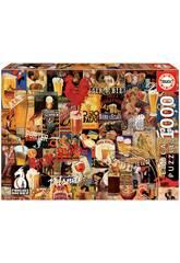 imagen Puzzle 1.000 Collage De Cerveza Vintage Educa 17970