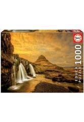 Puzzle 1.000 Cascade de Kirkjufellsfoss en Islande Educa 17971