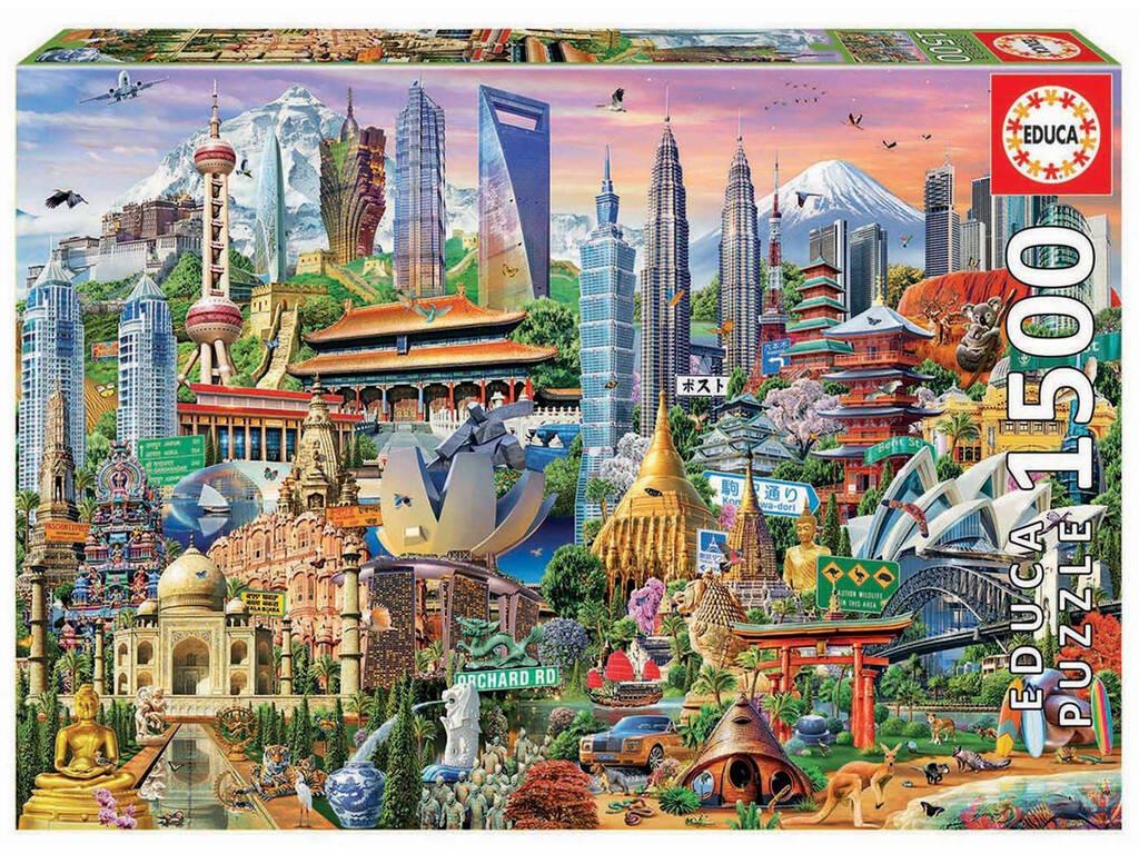 Puzzle 1.500 Símbolos de Ásia Educa 17979