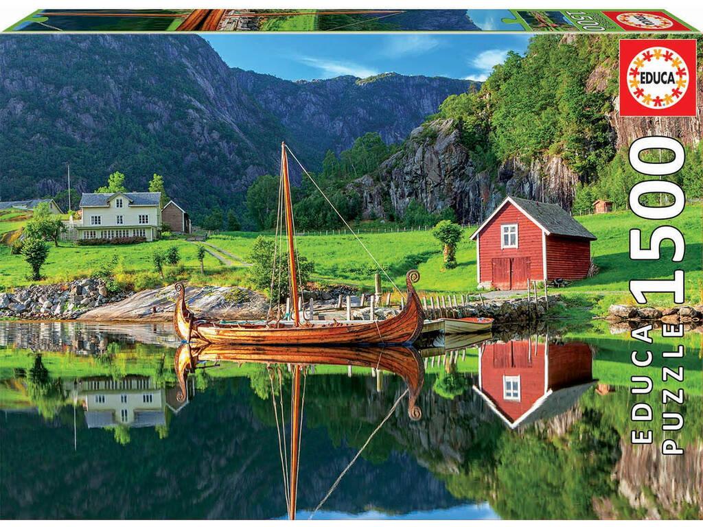 Puzzle 1.500 Barco Vikingo Educa 18006