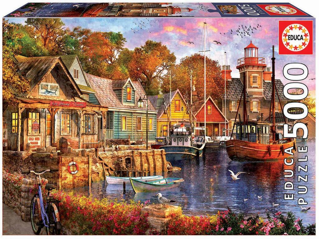 Puzzle 5000 Tramonto Nel Porto Educa 18015