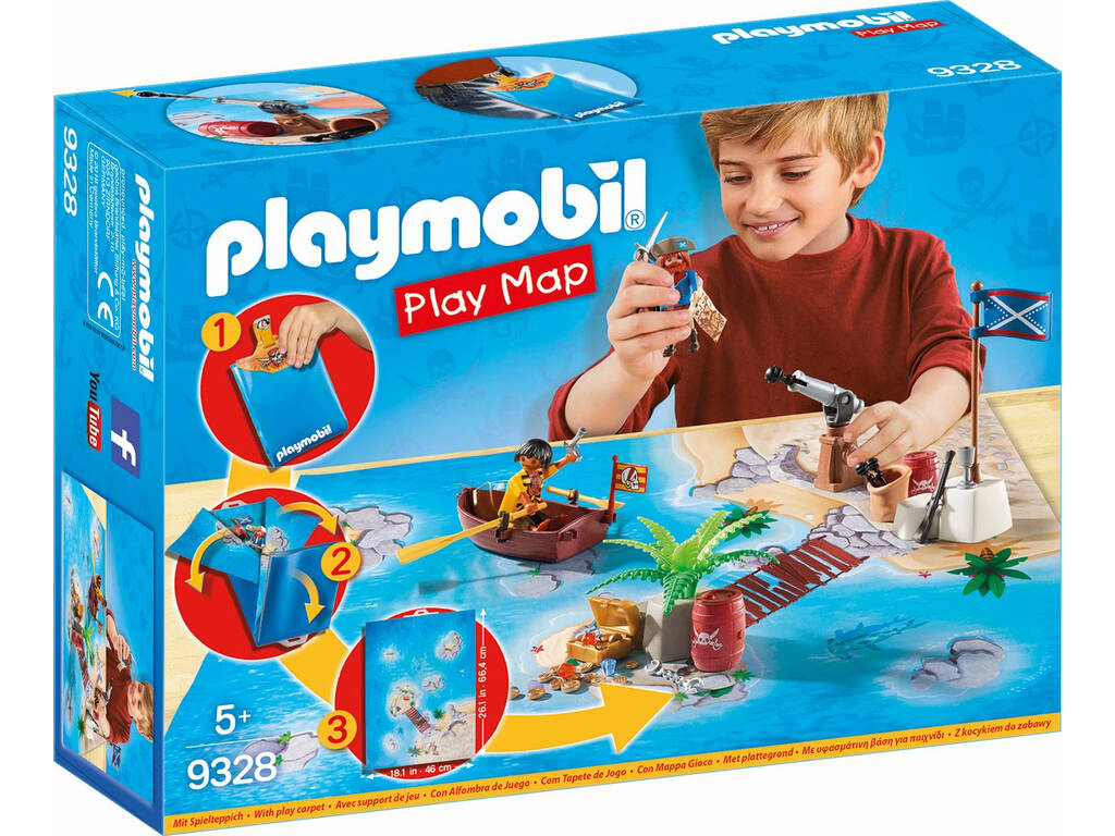 Playmobil Pirates Play Map Il tesoro dei Pirati 9328