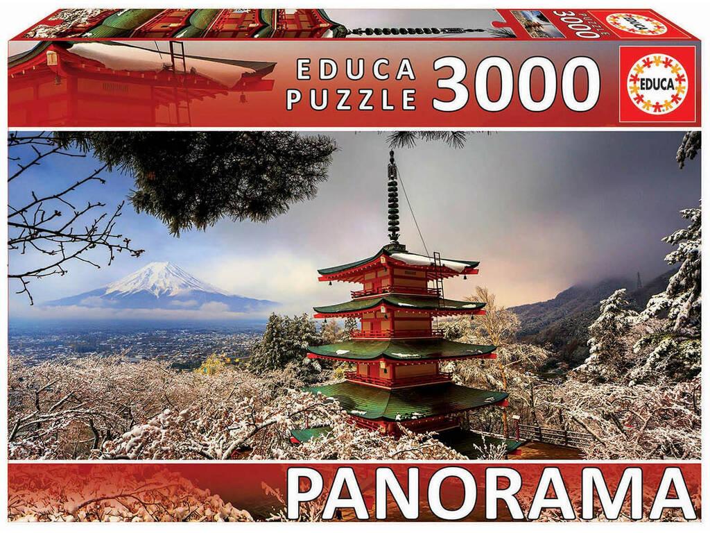 Puzzle 3.000 Mont Fuji et Pagode Chureito Au Japon Educa 18013