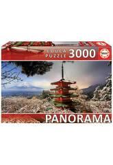 imagen Puzzle 3.000 Monte Fuji y Pagoda Chureito Japón Educa 18013