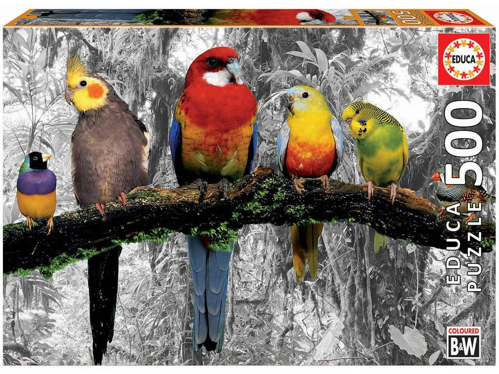 Puzzle 500 Uccelli Nella Giungla Educa 17984