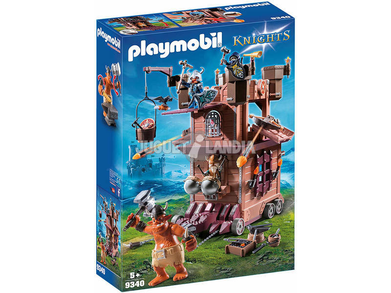 Playmobil Knights Fortezza mobile dei Guerrieri 9340