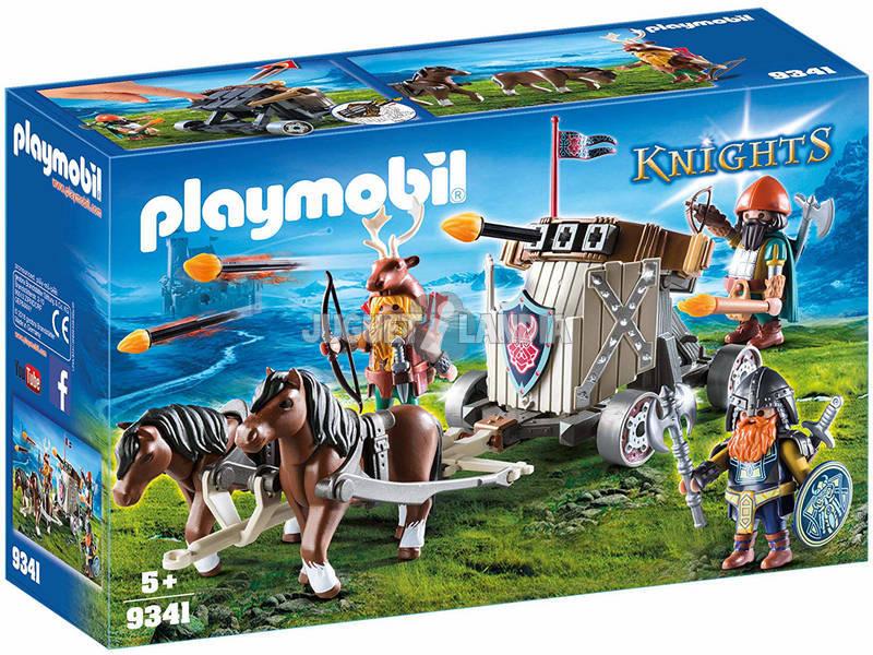 Playmobil Enanos con Carruaje de Caballos con Ballesta 9341