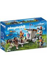 Playmobil Nains avec Attelage de Chevaux avec Baliste 9341