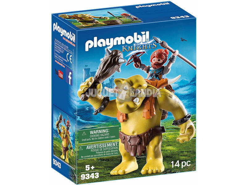 Playmobil Knights Guerriero con Troll Gigante 9343