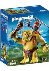 Playmobil Trol Gigante con Mochila y Enano 9343