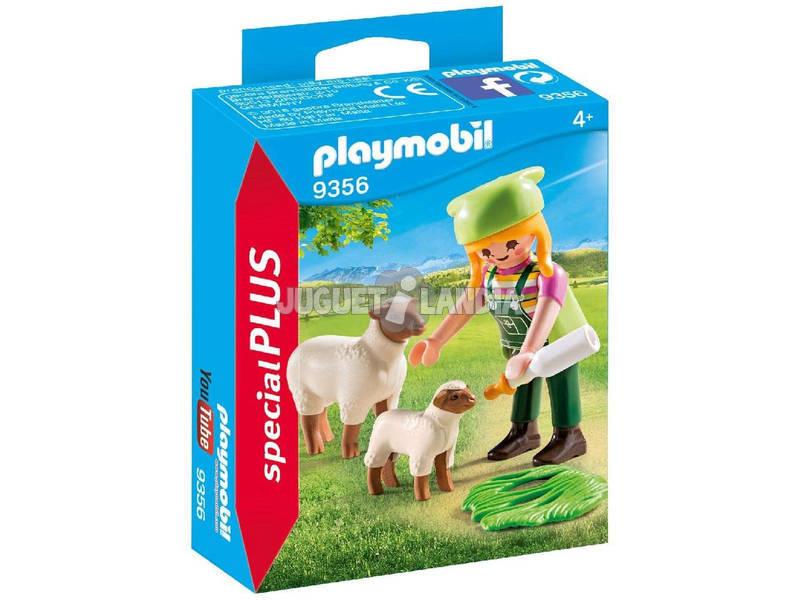 Playmobil Fermières avec des Moutons 9356