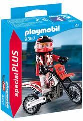 imagen Playmobil Piloto de Motocross 9357