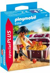 Playmobil Pirata com Cofre do Tesouro 9358