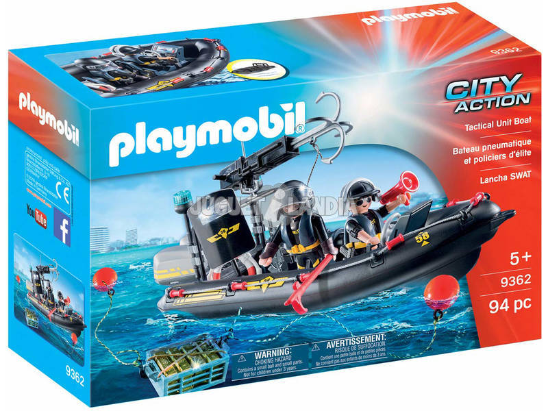 Playmobil City Action Gommone Unità Speciale con refurtiva 9362