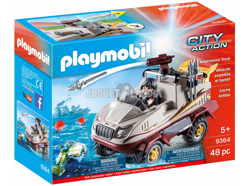 Playmobil City Action Auto anfibia dei malviventi 9364