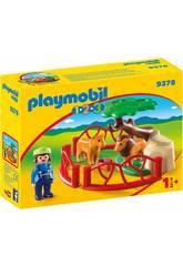 Playmobil 1,2,3 Enclos Lions 9378