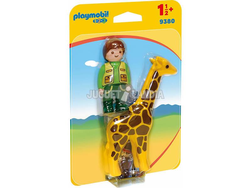 Playmobil 1.2.3 Custode dello zoo con giraffa 1.2.3