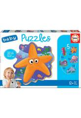 Baby Puzzle Animaux Marins Educa 18058