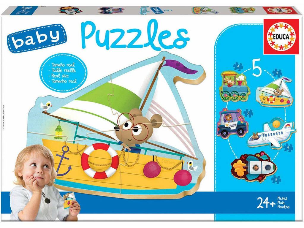 Baby Puzzle Vehículos 2 Educa 18059