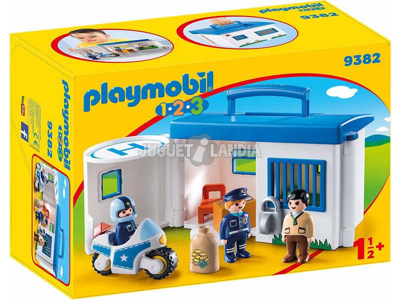 Playmobil 1.2.3 Maleta Esquadra da Polícia 9382