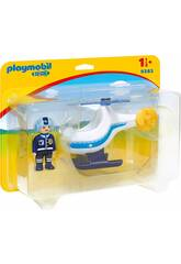 imagen Playmobil 1,2,3 Helicóptero de la Policía 9383