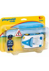 Playmobil 1,2,3 Voiture de Police 9384
