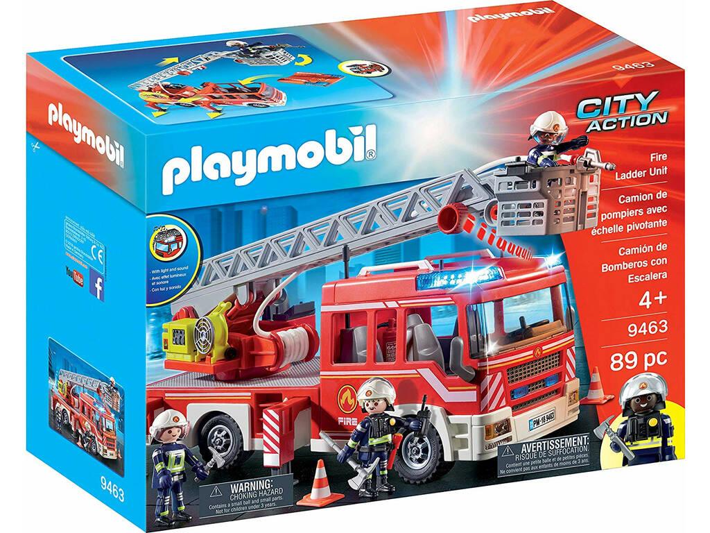 Playmobil Carro dos Bombeiros com Escadas, Luz e Som 9463