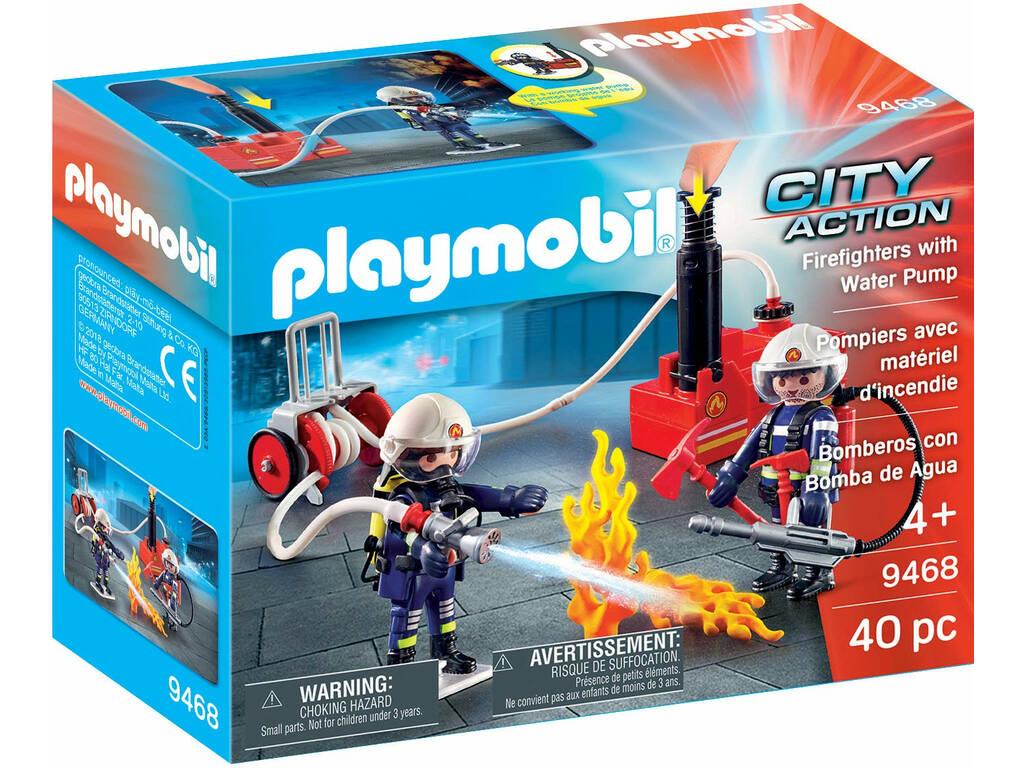 Playmobil City Action Squadra dei Vigili del Fuoco con pompa d'acqua 9468