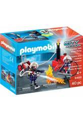 Playmobil Pompiers avec Pompe à Eau 9468